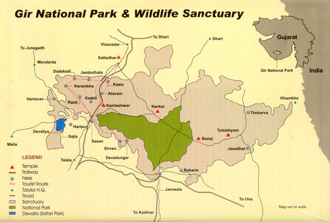 gir-national-park-map